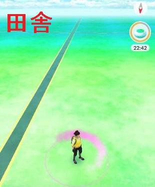 ポケモンGO田舎