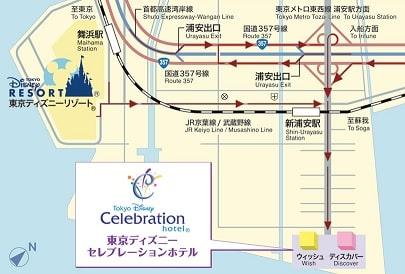 ディズニーセレブレーションホテルホテルマップ