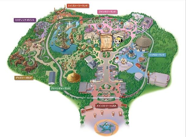 香港ディズニー地図