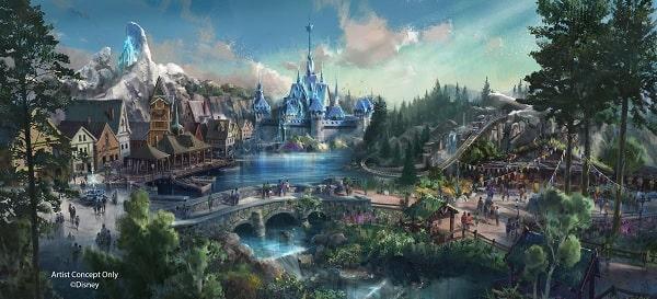香港ディズニーアナと雪の女王エリア