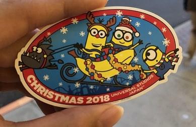 USJクリスマス限定シール