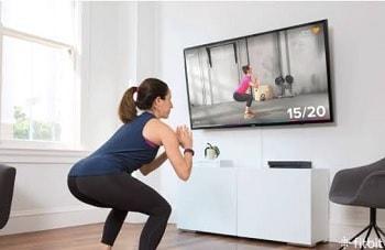 テレビをみながらトレーニング