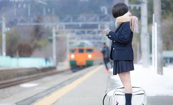 冬電車通学